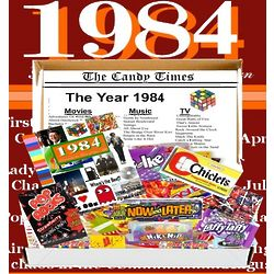 1984 30th Birthday Gift Basket Box Retro Nostalgic Candy