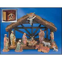 Hand-Painted Collector's Nativity Set