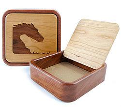 Yin-Yang Horse Wooden Keepsake Box