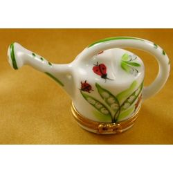 Lilies Watering Can Limoges Box