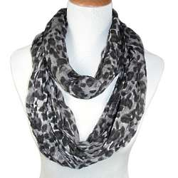Woman's Twisted Leopard Print Figure 8 Scarf