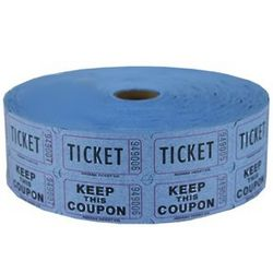 Blue Double Raffle Ticket Roll