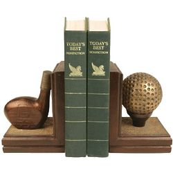 Golf Ball and Club Bookends