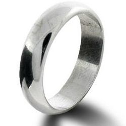 Classic 5mm Sterling Silver Wedding Band