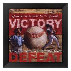 Victory and Defeat Baseball Framed Art Print