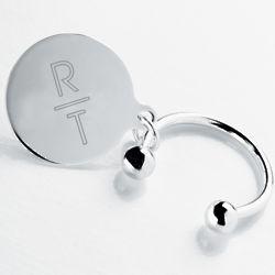 Silver Monogram Keychain