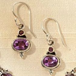 Newari Amethyst Earrings