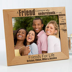 Personalized Friends Forever 8x10 Picture Frame