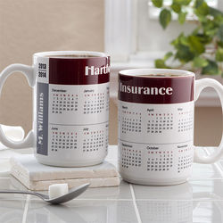 Large You Design It Calendar Coffee Mug