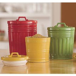 Assorted Trash Can Canister Set