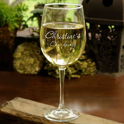 Personalized Connoisseur's White Wine Glass