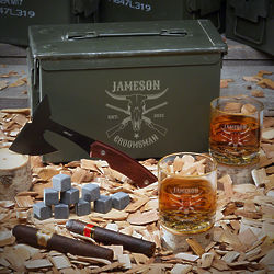 Midland Personalized 50 Cal Whiskey Gift Set for Cowboy