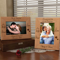 Personalized My Wife, My Friend Wooden Picture Frame