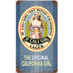 So. Cali Girl Metal Sign