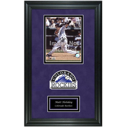 Colorado Rockies Deluxe Frame with Team Logo and Nameplate