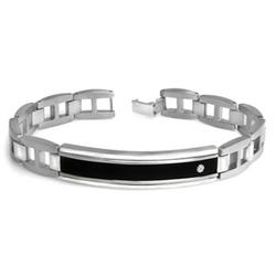 Men's Resin Bracelet in Stainless Steel
