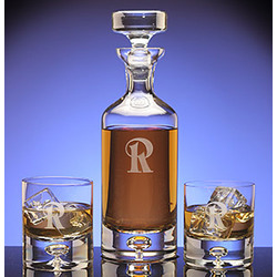 Personalized Avalon Crystal Decanter & Rock Glass Set