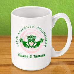 Personalized Claddagh Coffee Mug