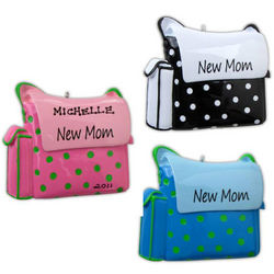 Personalized New Mom Diaper Bag Ornament