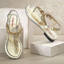 Charm Chain Sandals