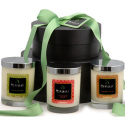 Deluxe Organic Candle Gift Basket for the Fall