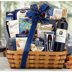 Hobson Estate Merlot Bon Appetit Gift Basket