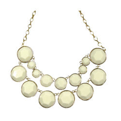Cream Double Layer Bubble Necklace