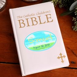 Personalized Glorious Sky Catholic Children's Bible