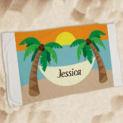 Personalized Summer Vacation Beach Towel