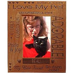 Personalized Horizontal 5x7 I Love My Pet Frame