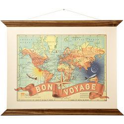 Bon Voyage Canvas Map Print