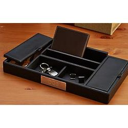 Personalized Leather Valet Tray