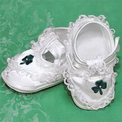 Girl's Shamrock Baptism Shoes