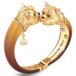 Sophistipups Yorkie Swarovski Crystal Bangle Bracelet