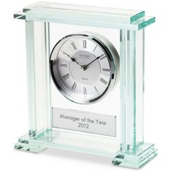Personalized Glass Block Clock