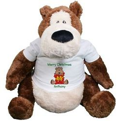 """22"""" Teddy Bear in Personalized Merry Christmas T-Shirt"""