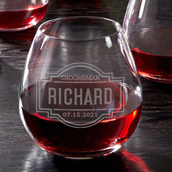 Fremont Personalized Stemless Wine Glass