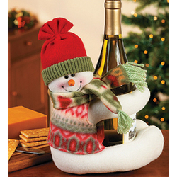 Musical Snowman Wine Bottle Hugger