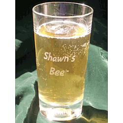 Engraved Baseball Beverage Glass