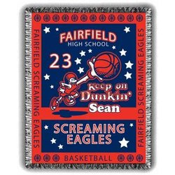 Dunkin' Personalized Basketball Afghan
