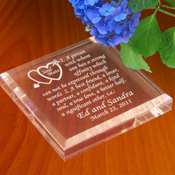 Personalized Soul Mate Definition Keepsake & Paperweight