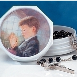 First Communion Rosary Set for a Boy