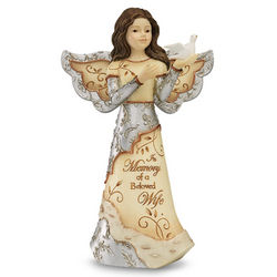 Expressions of Sympathy for Loss of a Wife Angel Figurine