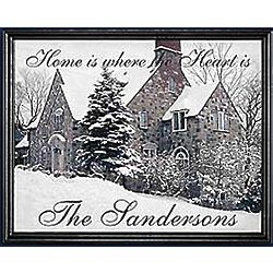 Personalized Framed Home Is Where The Heart Is Framed Canvas