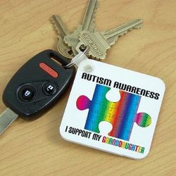 Personalized Autism Awareness Keychain