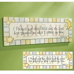 Personalized I Prayed For This Child Canvas