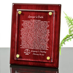 Personalized Lawyer's Oath Piano Finished Plaque