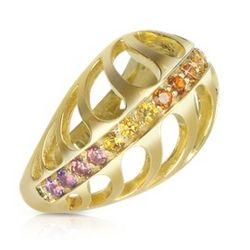 Silver Vermeil Mari Rush Ring