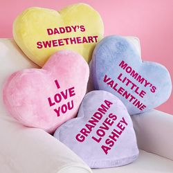 Personalized Heart Message Pillow with Candy