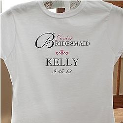 Personalized Junior Bridesmaid Fitted T-Shirt
